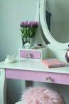 metalfolie med glitter i lyserød farve