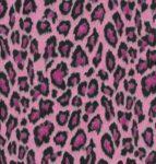 selvklæbende folie i leopardmønster i pink og sortfarvet