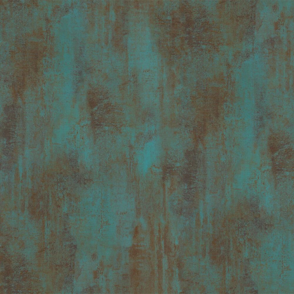 selvklæbende folie i råt look - oxyderet stål i grønne og brunlige farver