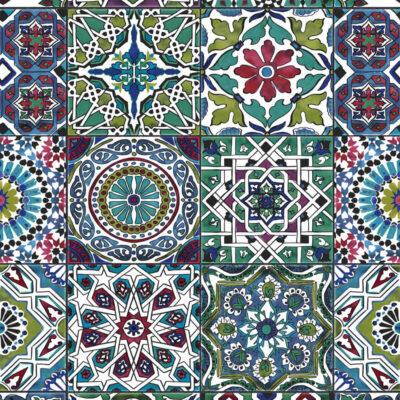 selvklæbende lakfolie i kakkelmønster med mange farver