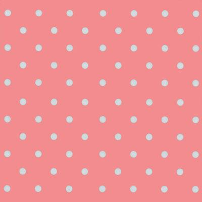 selvklæbende folie i gammelrosa med hvide prikker