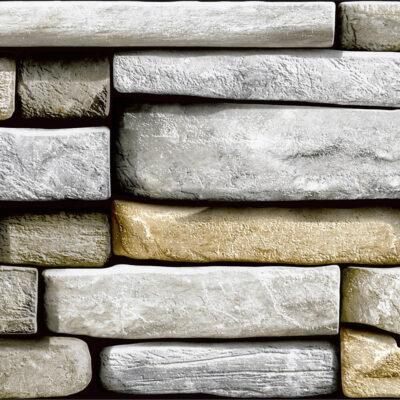 selvklæbende folie i stenmønster - stenvæg